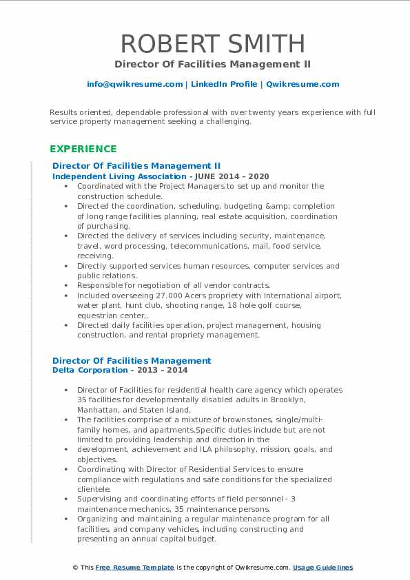 director of facilities management resume samples qwikresume pdf emailing your sapui5 Resume Director Of Facilities Resume