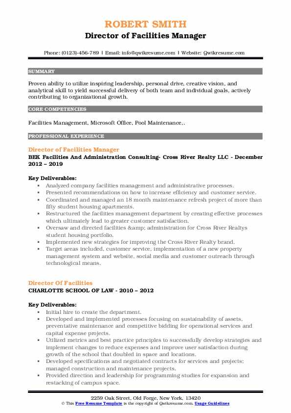 director of facilities resume samples qwikresume pdf summary for network engineer ticket Resume Director Of Facilities Resume