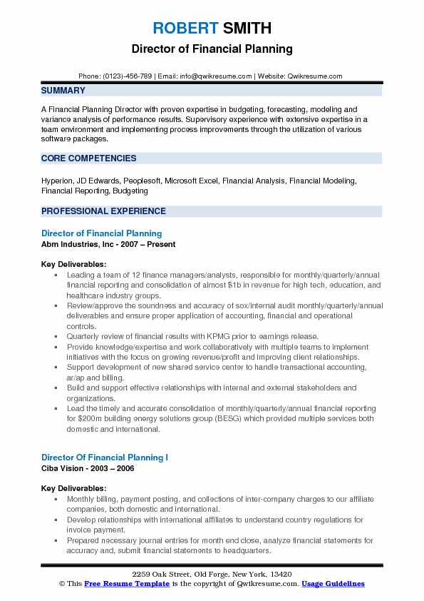 director of financial planning resume samples qwikresume and analysis pdf summary vs Resume Programmer Analyst Resume Sample