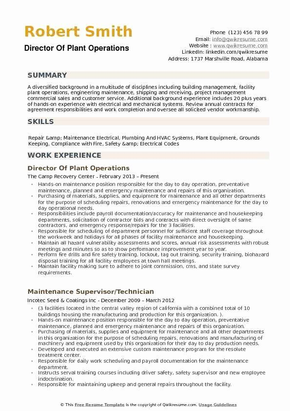 director of operations resume examples best plant samples objective retail job facilities Resume Director Of Facilities Resume
