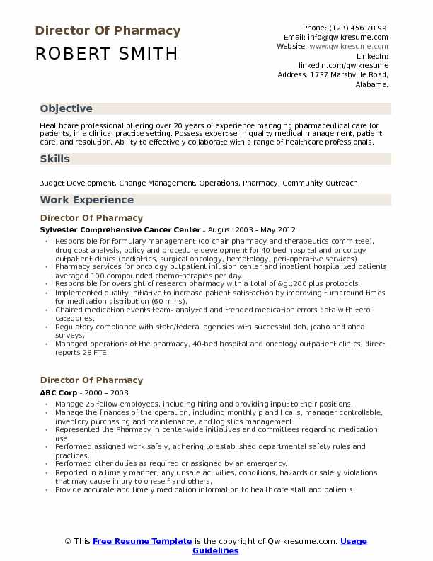 director of pharmacy resume samples qwikresume pharmaceutical objective pdf cashier Resume Pharmaceutical Resume Objective