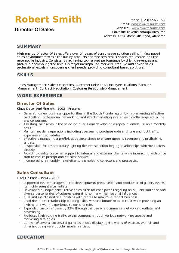 director of resume samples qwikresume best templates for professionals pdf ux design some Resume Best Resume Templates For Sales Professionals