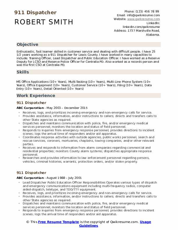 dispatcher resume samples qwikresume for position pdf indeed update sample machinist Resume Resume For Dispatcher Position