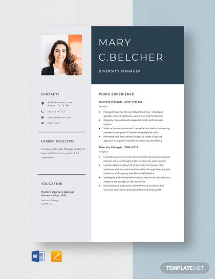 diversity manager resume cv template word apple operation engineer process trainer Resume Diversity Manager Resume