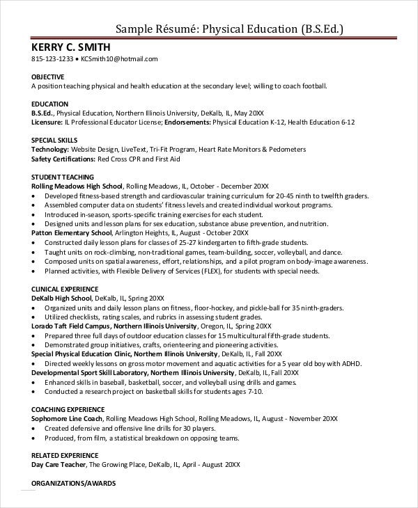 education resume templates pdf free premium physical teacher skills sample for pmo role Resume Physical Education Teacher Skills Resume
