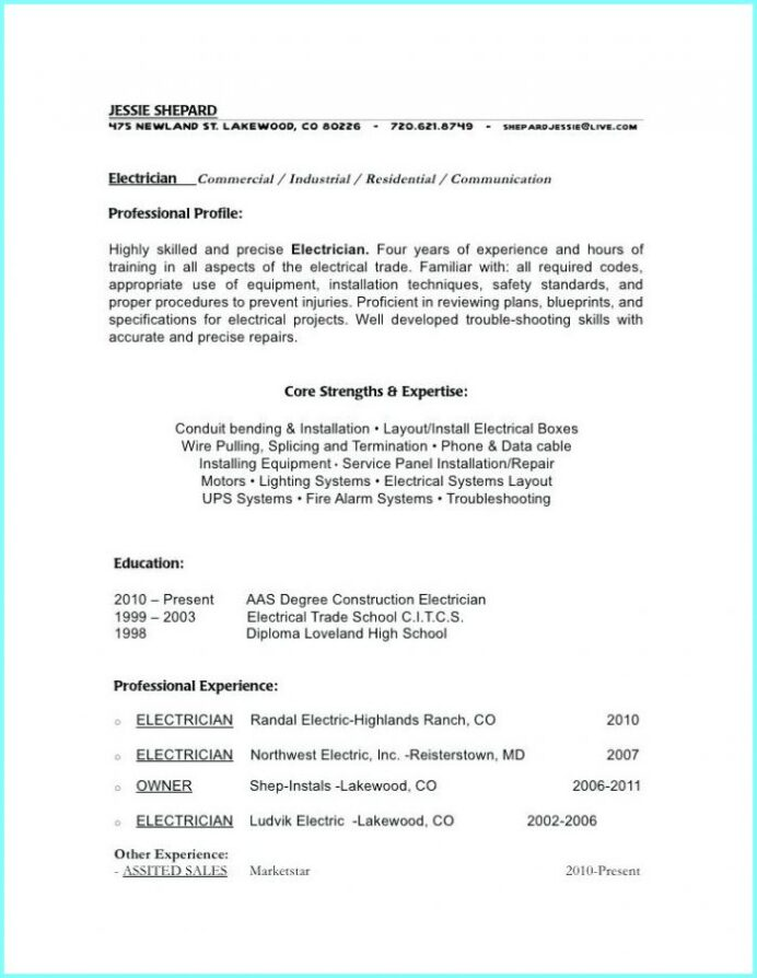 electrician helper resume best examples entry level electrical apprentice samples sample Resume Entry Level Electrical Apprentice Resume Samples