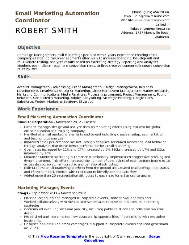 email marketing specialist resume samples qwikresume manager pdf examples with associates Resume Email Marketing Manager Resume