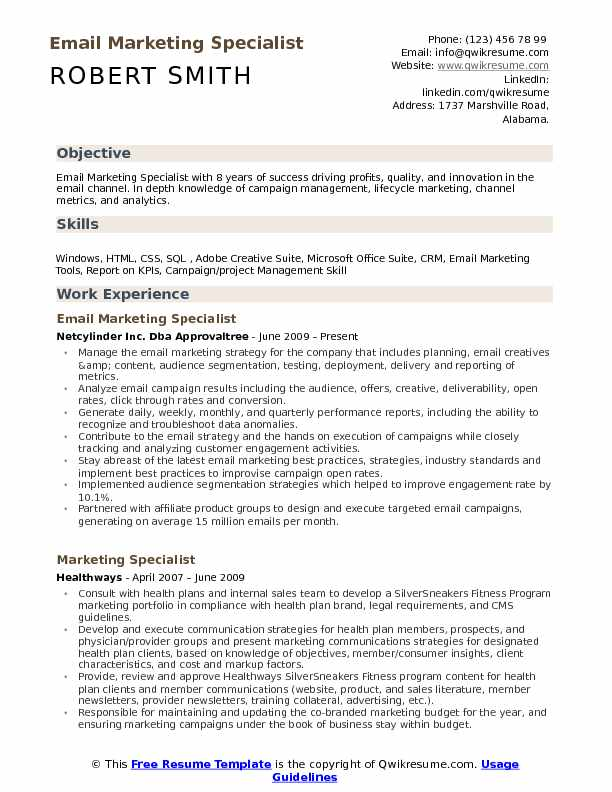 email marketing specialist resume samples qwikresume sample pdf abercrombie and fitch Resume Email Marketing Resume Sample