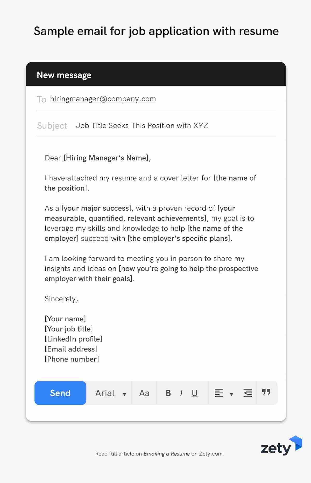 emailing resume job application email samples body for sending example sample with Resume Email Body For Sending Resume Example
