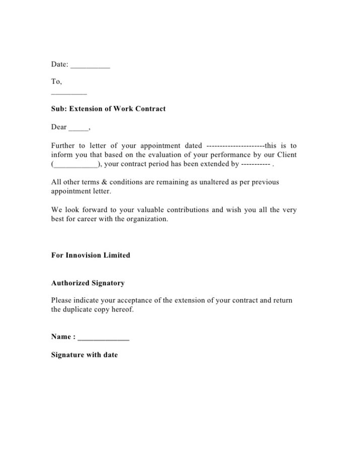 employee contract extension letter resume entry level software developer examples Resume Employee Contract Extension Letter Resume
