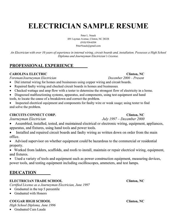 engineer resume writing tips sample cover letter job samples electrician template Resume Electrician Resume Template