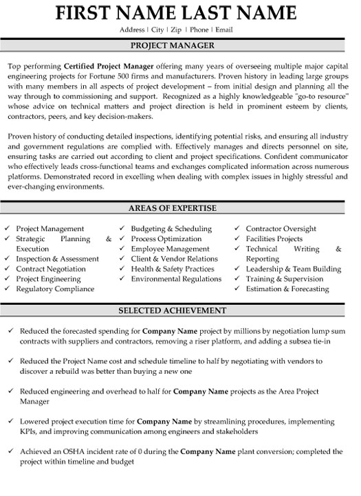 engineering project manager resume sample template examples healthcare objective Resume Engineering Project Manager Resume Examples