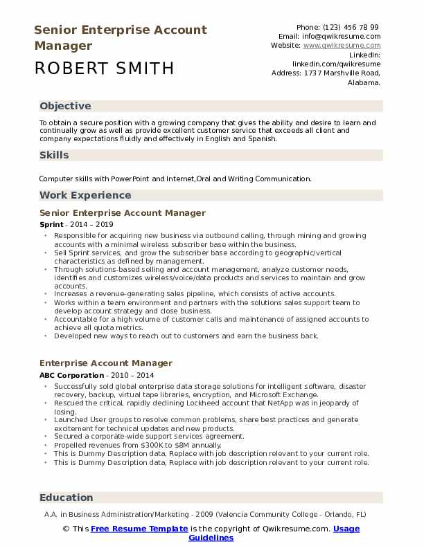 enterprise account manager resume samples qwikresume sample pdf cpm google architecture Resume Account Manager Resume Sample