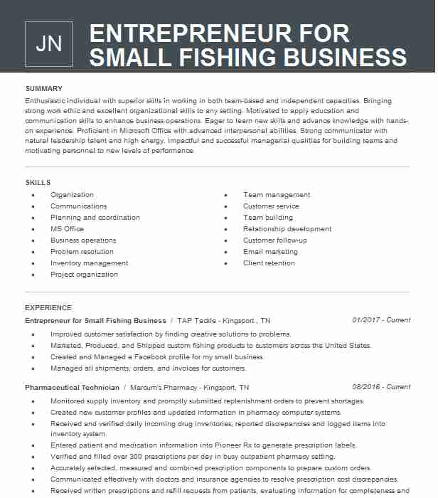 entrepreneur small business owner resume example for owning your own title company Resume Former Business Owner Resume