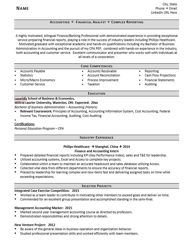entry level accountant resume example tips zipjob core competencies for accounting Resume Core Competencies For Accounting Resume