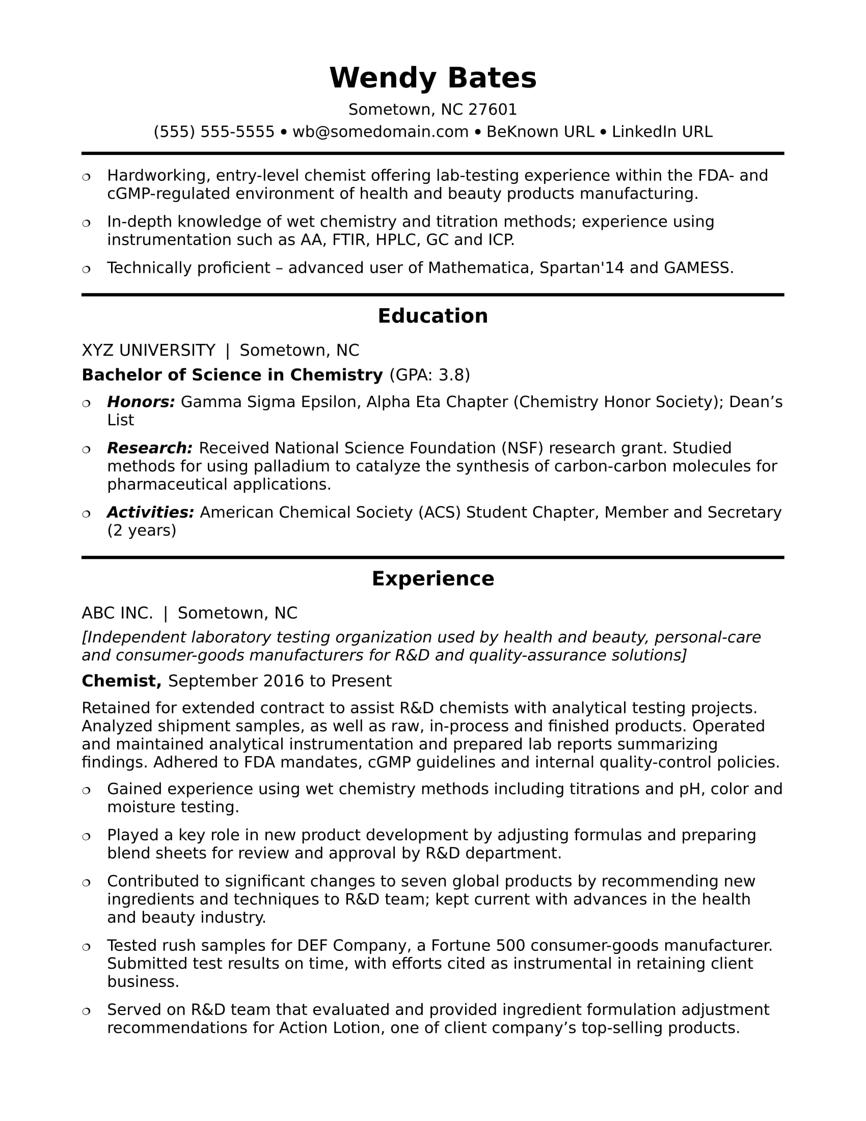 entry level chemist resume sample monster production boutique owner microsoft word Resume Production Chemist Resume Sample