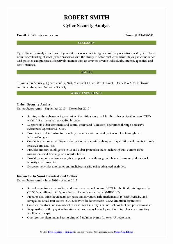 entry level cyber security resume with no experience inspirational analyst resum business Resume Cybersecurity Analyst Resume Sample