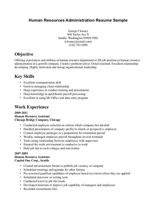 entry level human resources resume template free job examples for jobs with experience Resume Resume Examples For Jobs With Experience