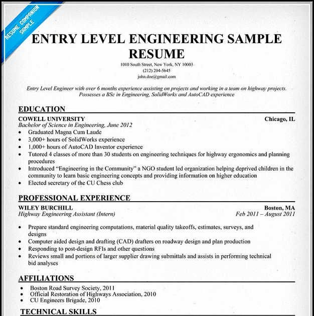 entry level mechanical design engineer resume best examples highway contemporary modern Resume Highway Design Engineer Resume