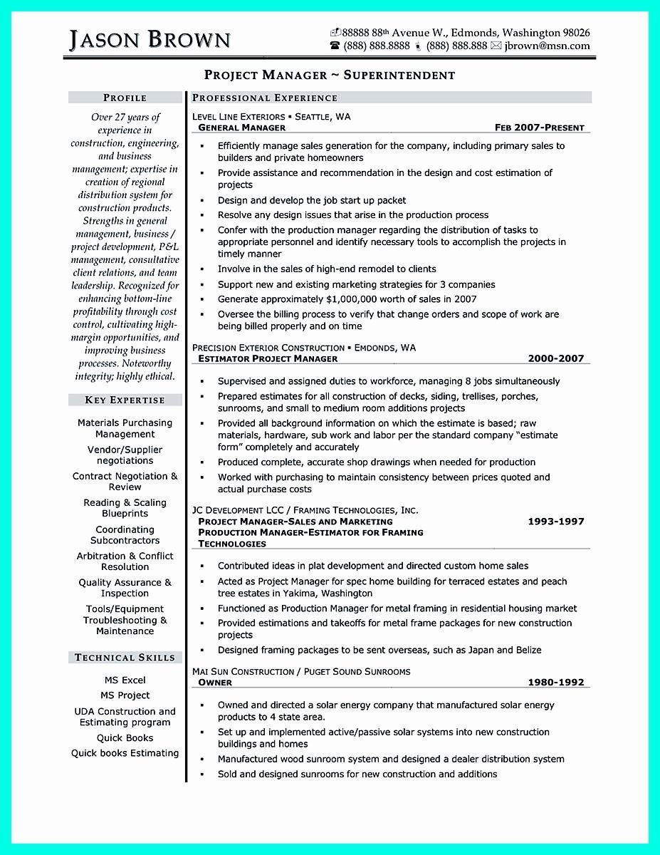 entry level project management resume luxury cool construction manager to get applied Resume Building Superintendent Resume