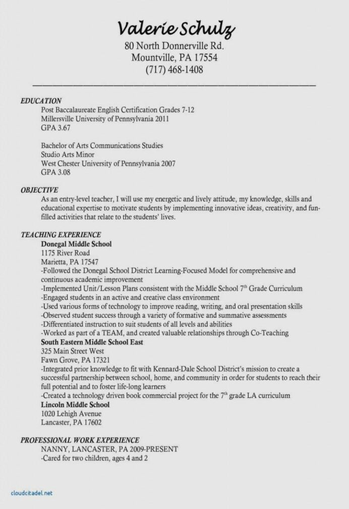 entry level psychology resume example in teacher template teaching objective child care Resume Entry Level Teacher Resume Objective