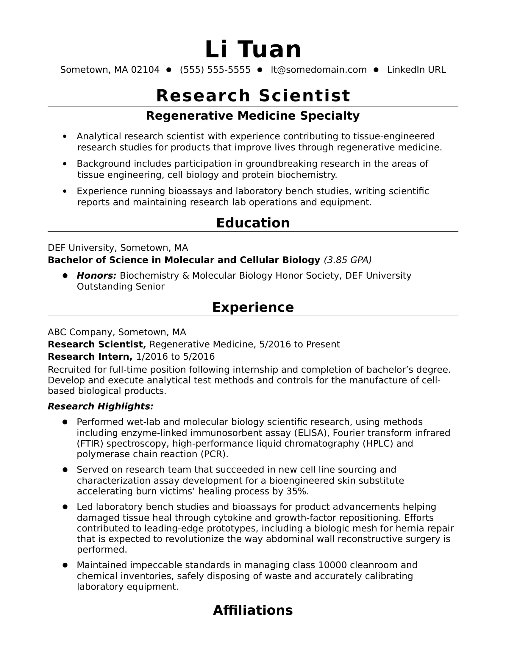 entry level research scientist resume sample monster listing publications on examples Resume Listing Publications On A Resume Examples