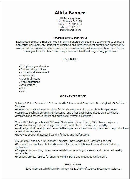 entry level software developer resume awesome template engineer professional summary for Resume Resume For Ex Servicemen Indian Army