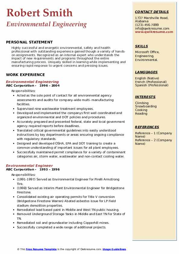 environmental engineer resume samples qwikresume for fresher pdf objective statement Resume Payroll And Benefits Specialist Resume