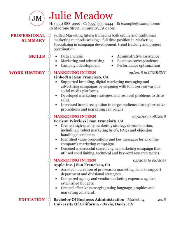 essential student resume examples my perfect for part time job college marketing free Resume Resume For Part Time Job College Student