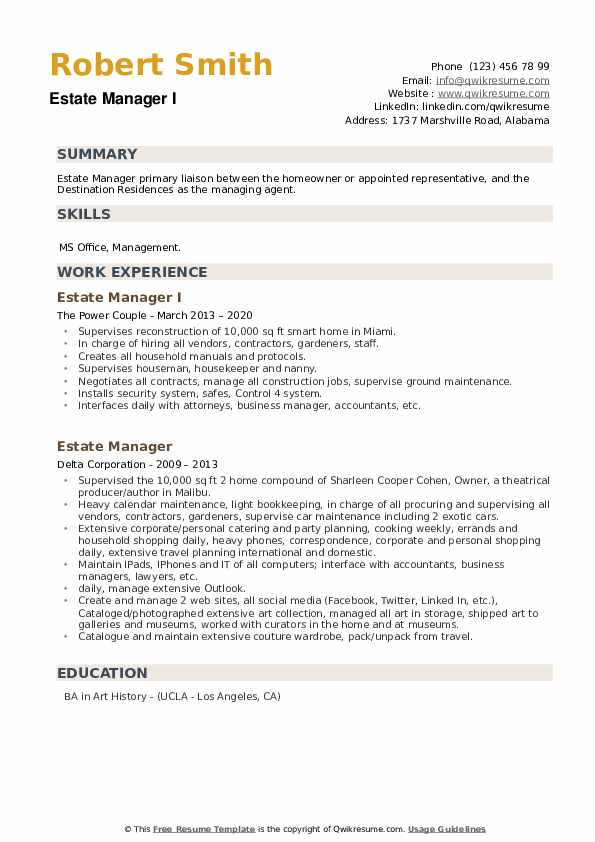 estate manager resume samples qwikresume example pdf for surgical technologist student Resume Estate Manager Resume Example