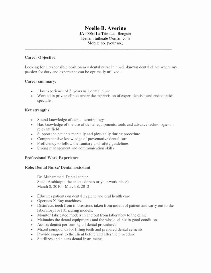 example of dental assistant resume inspirational examples resumes den medical no Resume Experience Dental Assistant Resume