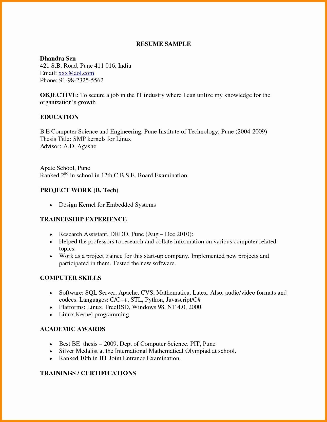 example of resume for engineering fresh graduate best examples new sample mechanical Resume Example Of Best Resume For Fresh Graduate