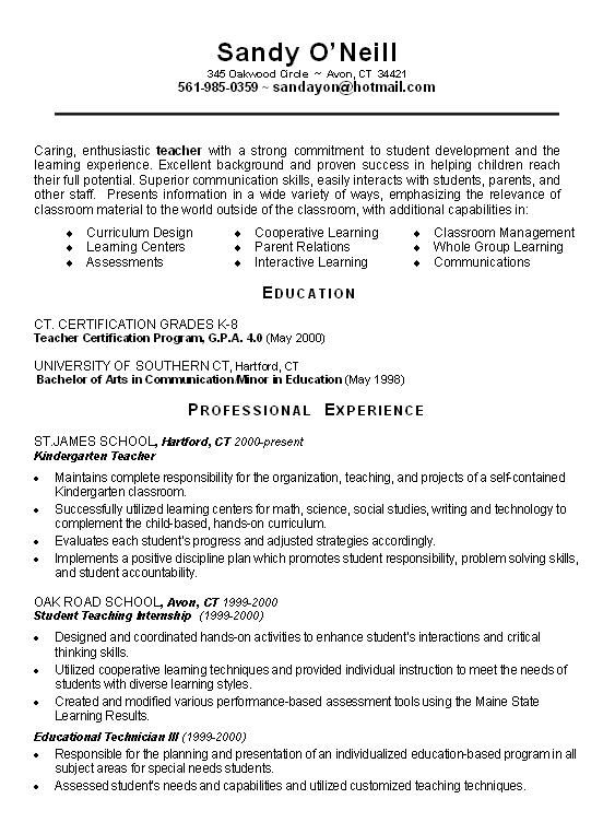 example of teacher resume teaching template examples elementary objective assistant Resume Elementary Teacher Resume Objective Examples