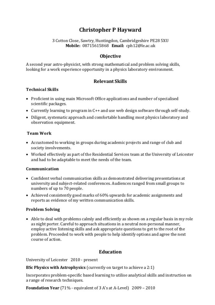 example skills based cv resume that sells strength of student for foreign exchange build Resume Exchange Student Resume Sample