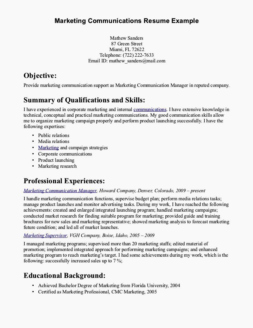examples of communication skills for resume fresh cover letter excellent verbal and Resume Communication Section On Resume