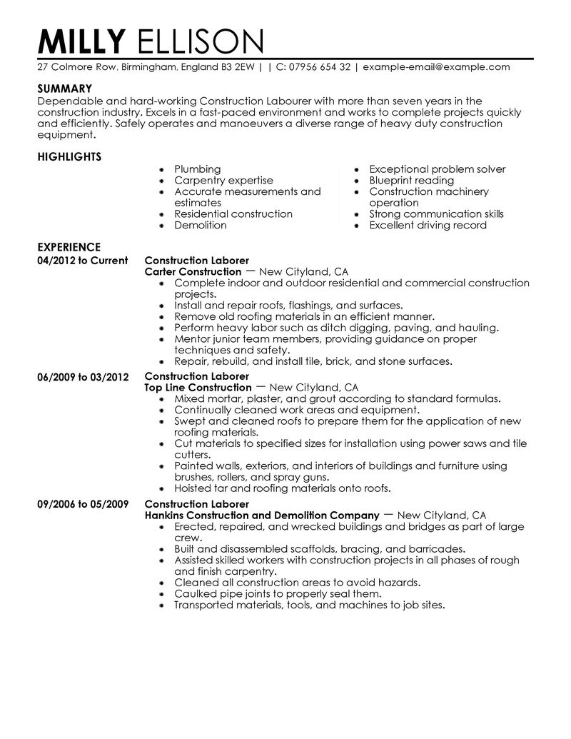 examples of resumes for construction jobs tipss und vorlagen first time job resume esl Resume First Time Job Resume Examples