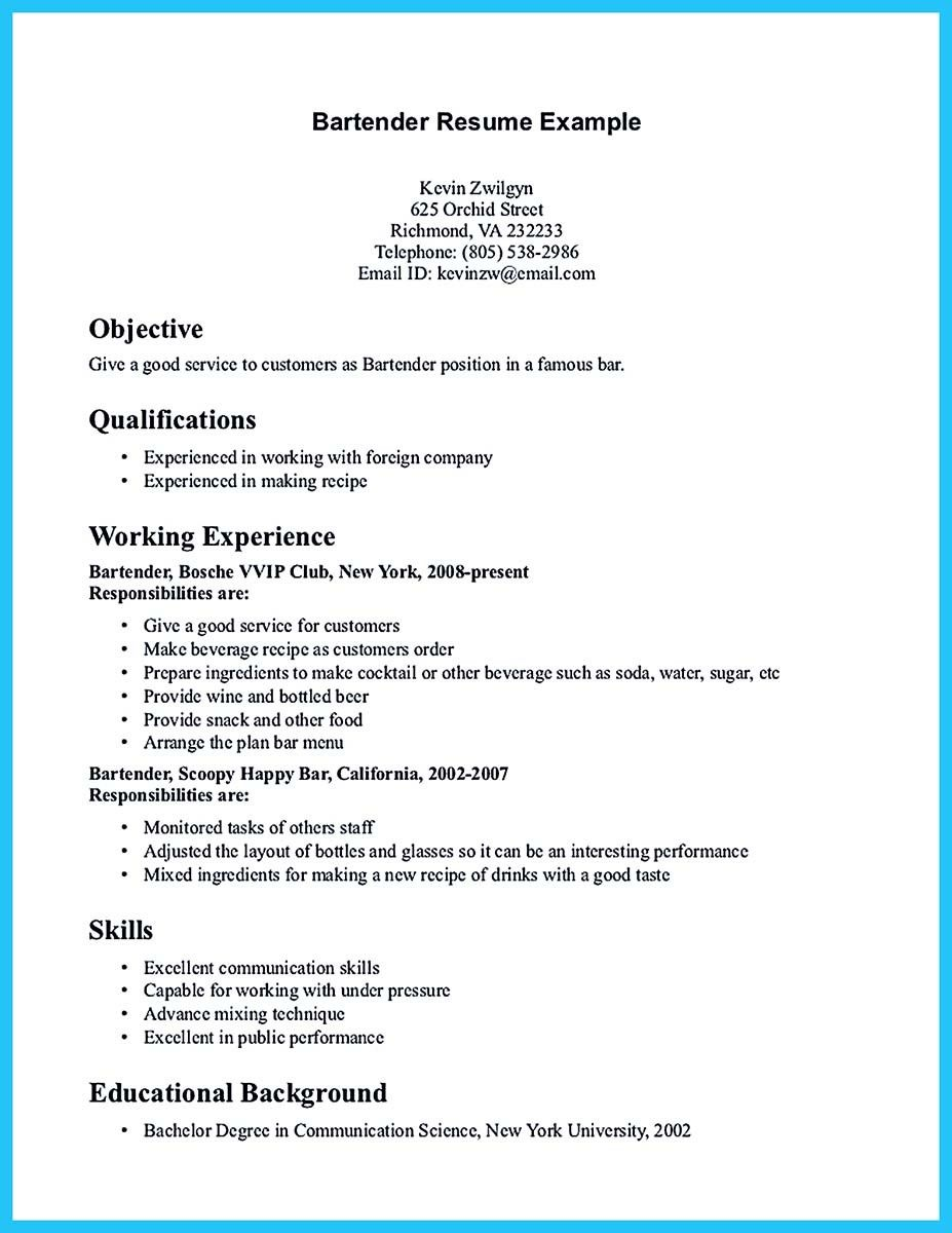excellent ways to make great bartender resume template write in simple steps examples job Resume Making A Good Resume