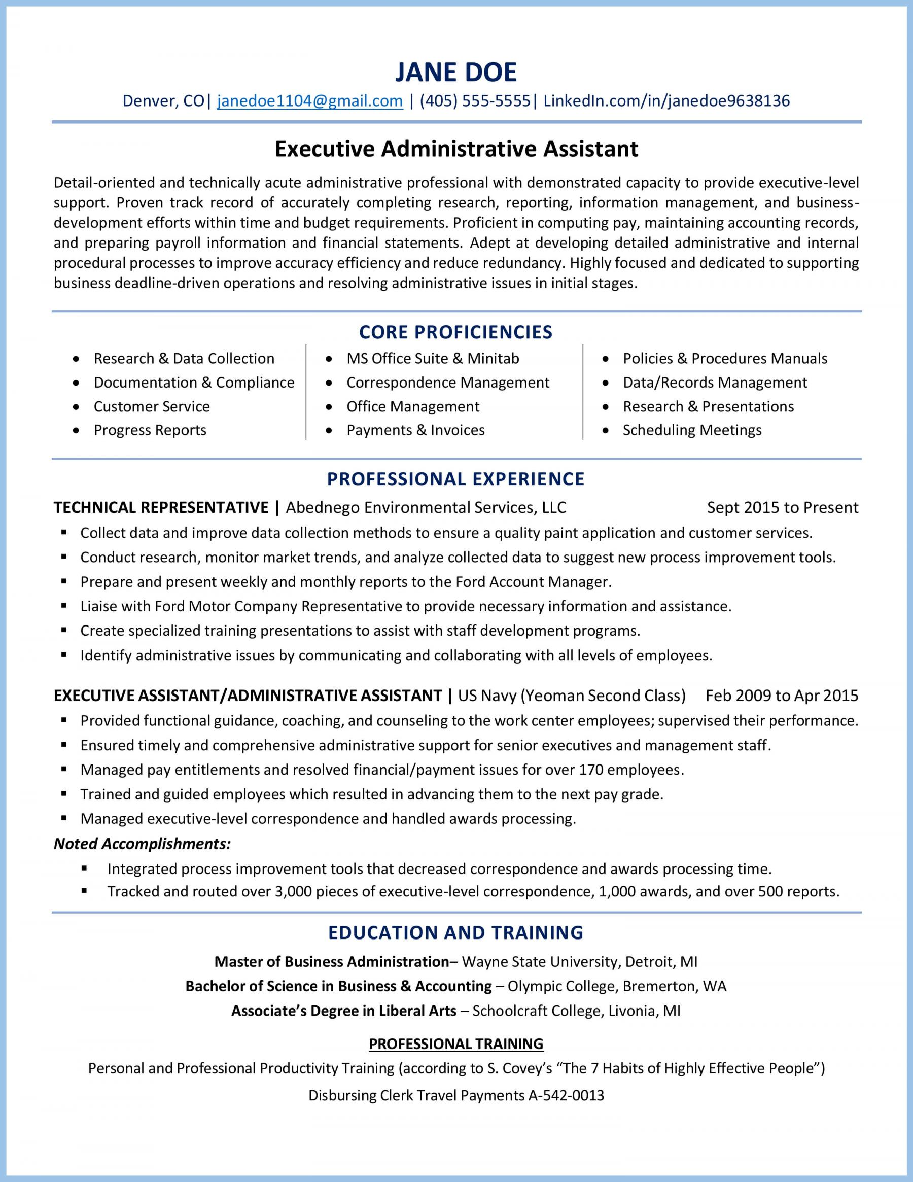 executive administrative assistant resume example dht5rqzz0ssie0qvhbnj headline for data Resume Executive Administrative Assistant Resume