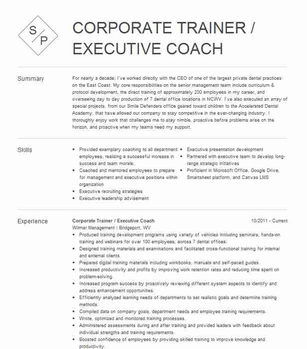 executive coach resume example company name brooklyn new professional coaching supply Resume Professional Coaching Resume