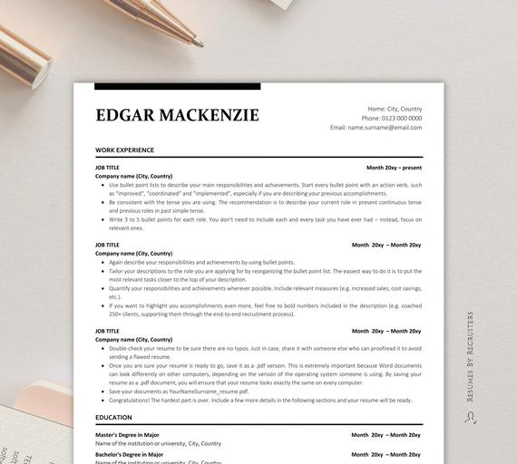 executive resume ats friendly instant etsy free templates il 570xn right foot crew Resume Free Ats Friendly Resume Templates