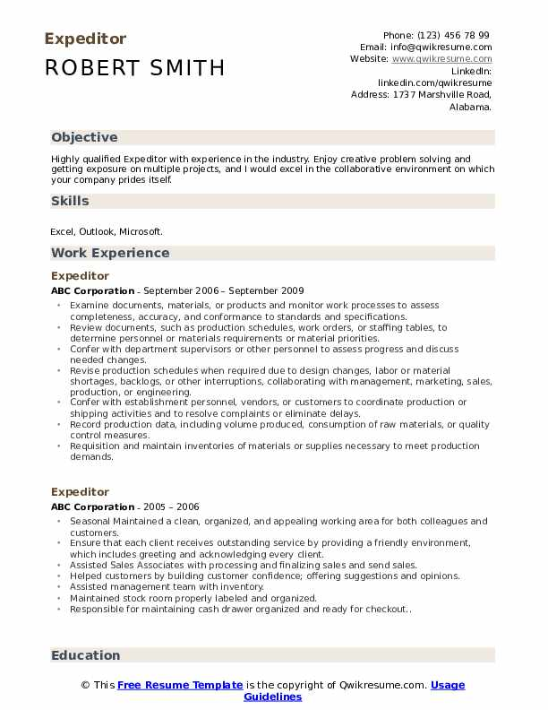 expeditor resume samples qwikresume material pdf free functional template management Resume Material Expeditor Resume