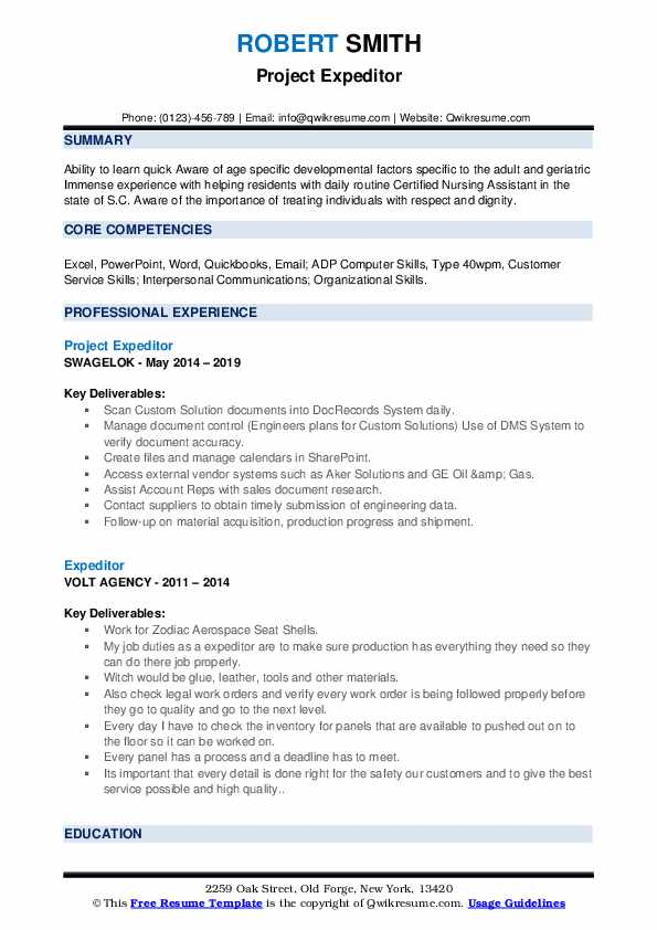 expeditor resume samples qwikresume material pdf zety builder phone number csulb help joe Resume Material Expeditor Resume