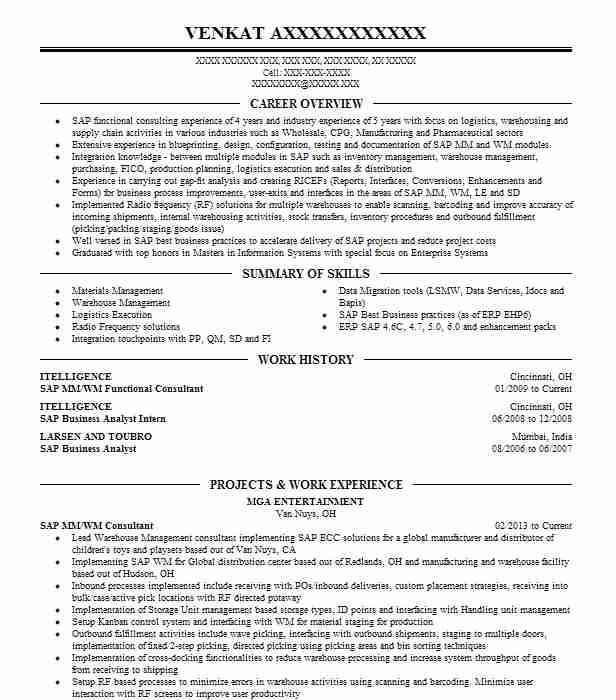 experienced sap successfactor consultant and project manager resume example kpit havre Resume Sap Success Factors Resume