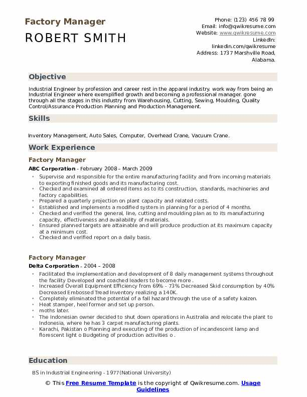 factory manager resume samples qwikresume garment pdf customer service intern create from Resume Garment Factory Manager Resume