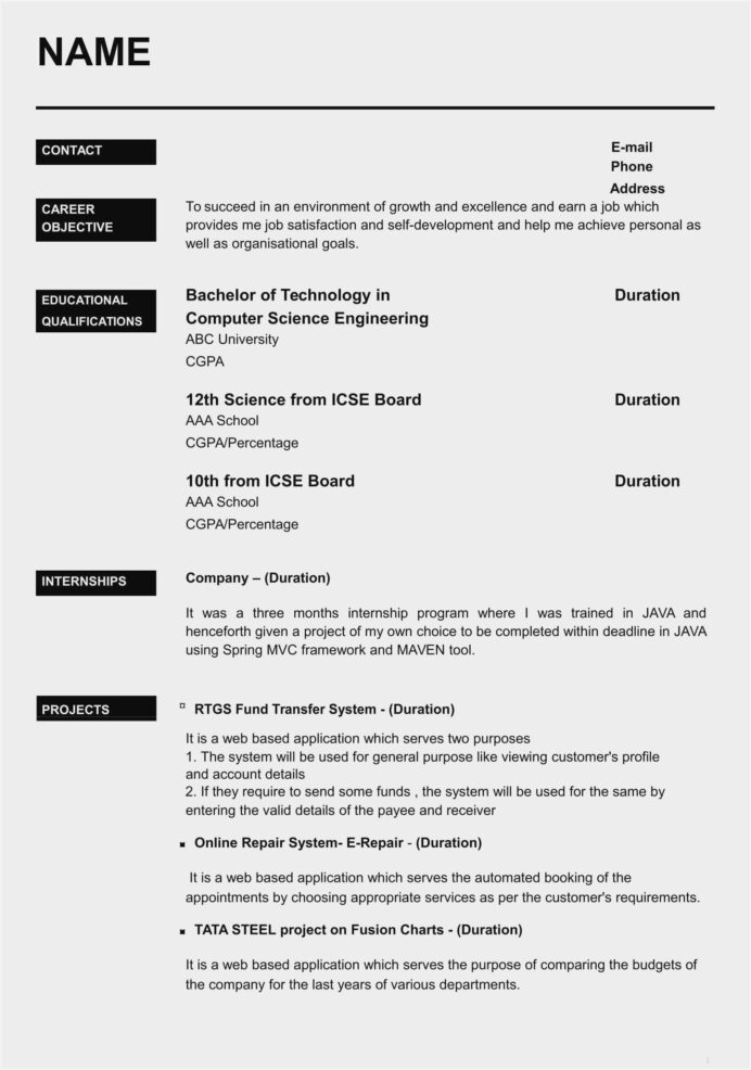 fashion designer resume template free sample format for freshers with photo standard Resume Free Download Simple Resume Format For Freshers