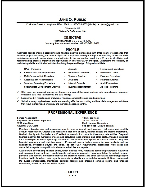 federal financial analyst resume sample the clinic pg1 problem action result examples Resume Financial Analyst Resume Sample