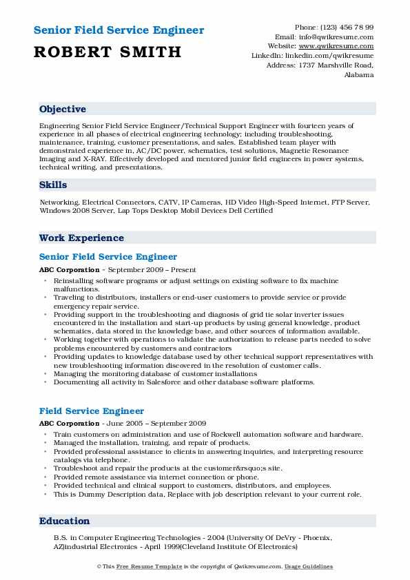 field service engineer resume samples qwikresume network pdf veterinary office manager Resume Network Field Engineer Resume