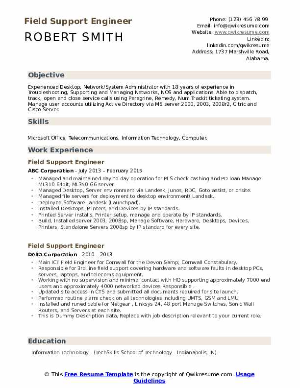 field support engineer resume samples qwikresume network pdf semi truck driver examples Resume Network Field Engineer Resume