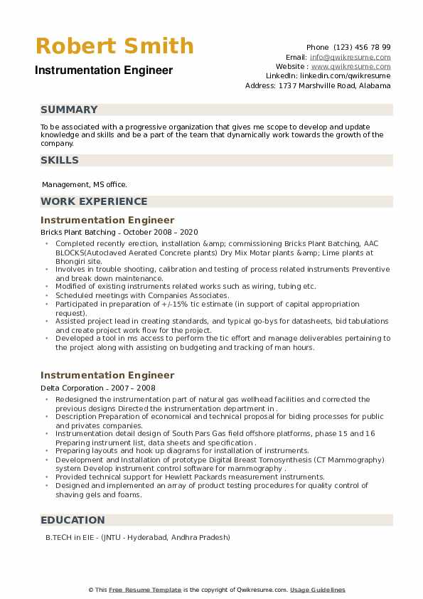 film resume instrumentation maintenance engineer free search for employers sharepoint Resume Maintenance Engineer Resume