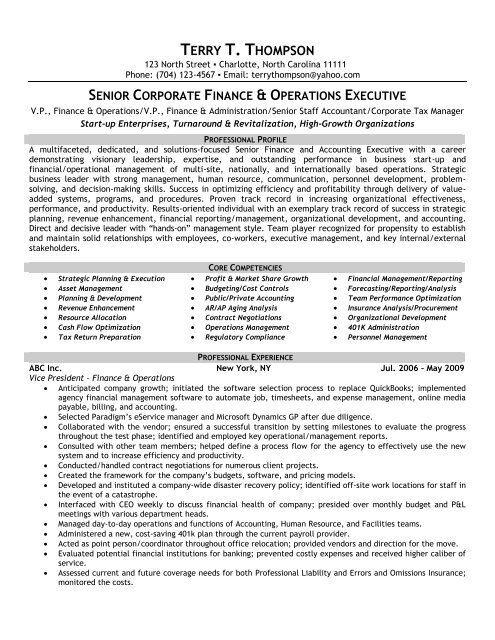 finance operations front runner resume writing core competencies for accounting amp an Resume Core Competencies For Accounting Resume